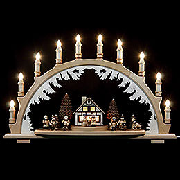 Candle Arch - Winterchildren - 67x42 cm / 26x17 inch