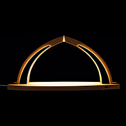 Candle Arch - modern wood - without Figurines - 41x20 cm / 16.1x7.9 inch