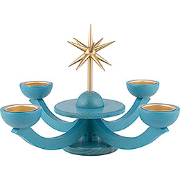 Candle Holder Advent Blue, with Tea Candle Holder - 31x31 cm / 12.2x12.2 inch