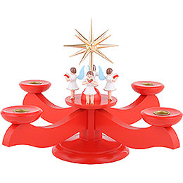 Candle Holder - Advent Red - 29x29x26 cm / 11.4x11.4x10.2 inch