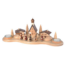 Candle Holder - Alpine Village - 16 cm / 6 inch