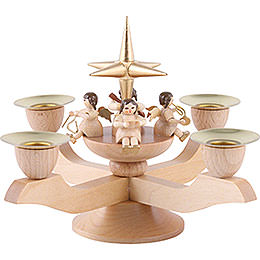Candle Holder - Angels - Gold - 12 cm / 5 inch