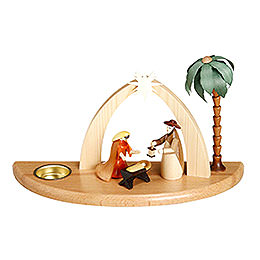 Candle Holder - Nativity Scene - 17 cm / 7 inch