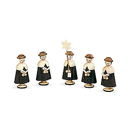 Carolers 5 Figurines - 4,5 cm / 2 inch