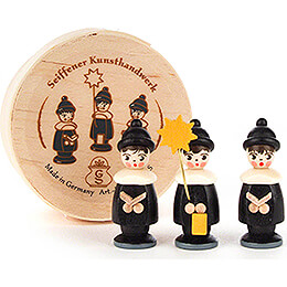 Carolers black in Wood Chip Box - 3,5 cm / 1.4 inch