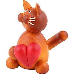 Cat Charlie with Heart - 8 cm / 3.1 inch