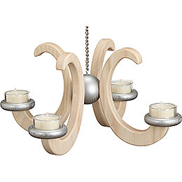 Ceiling Candle Holder -, Ash Tree, Natural - 33x16 cm / 13x6.3 inch