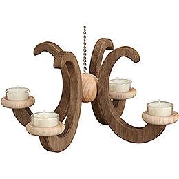Ceiling Candle Holder -, Oak Natural, Smoked - 33x16 cm / 13x6.3 inch
