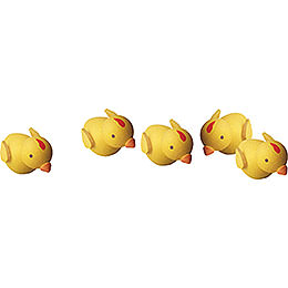 Chicks, Set of Five - 1 cm / 0.4 inch