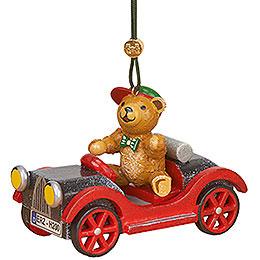 Christbaumschmuck Auto mit Teddy - 5 cm