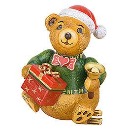 Christbaumschmuck Baumclipser Teddy Weihnachtsbärli - 8 cm
