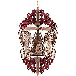 Christbaumschmuck Christi Geburt - rot - 15,3 cm