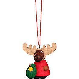 Christbaumschmuck Elch Weihnachtsmann - 4,2 cm