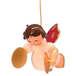 Christbaumschmuck Engel mit Becken - Rote Flügel - schwebend - 5,5 cm