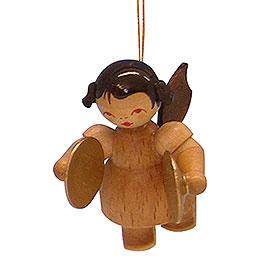 Christbaumschmuck Engel mit Becken - natur - schwebend - 5,5 cm