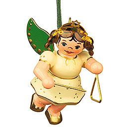 Christbaumschmuck Engel mit Triangel - 6 cm