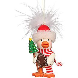 Christbaumschmuck Federentlein Weihnachten - 10 cm