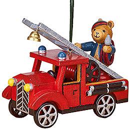 Christbaumschmuck Feuerwehr mit Teddy - 8 cm