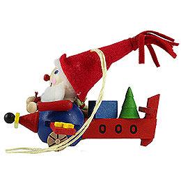 Christbaumschmuck Fliegender Weihnachtsmann - 7 cm