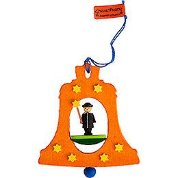 Christbaumschmuck Glocke mit Sternsinger - 7,5 cm