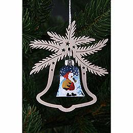 Christbaumschmuck Handbemalte Glasglocke Weihnachtsmann, 3er-Set - 9x8 cm