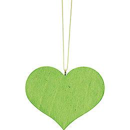 Christbaumschmuck Herz grün - 5,7x4,5 cm