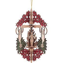 Christbaumschmuck Kerze Bergmann, Engel und Räuchermann - 15,3 cm