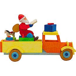 Christbaumschmuck Lastwagen Weihnachtsmann - 7,5 cm