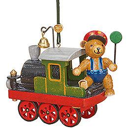 Christbaumschmuck Lok mit Teddy - 5 cm
