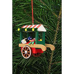 Christbaumschmuck Marktwagen mit Spielzeug - 7,1 cm