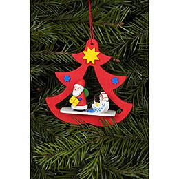Christbaumschmuck Nikolaus im Baum - 7,2x7,1 cm