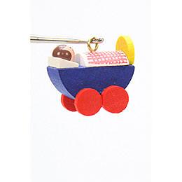 Christbaumschmuck Puppenwagen - 2,4 / 2,3 cm