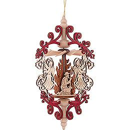 Christbaumschmuck Rollspan Engel mit Glocke - Christi Geburt - 15 cm