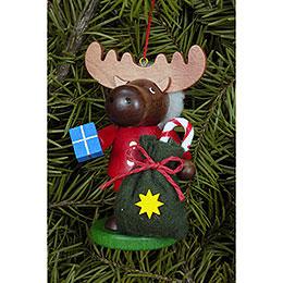 Christbaumschmuck Strolch Elch Weihnachtsmann - 9,5 cm
