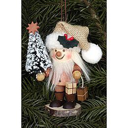 Christbaumschmuck Strolch Weihnachtsmann natur - 10,5 cm