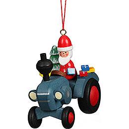 Christbaumschmuck Traktor mit Weihnachtsmann - 5,7x5,6 cm
