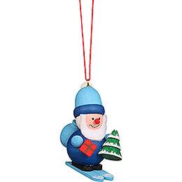 Christbaumschmuck Weihnachtsmann blau - 5,3 cm