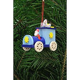 Christbaumschmuck Weihnachtsmann im Truck - 7,2 cm