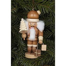 Christbaumschmuck Weihnachtsmann natur - 10 cm