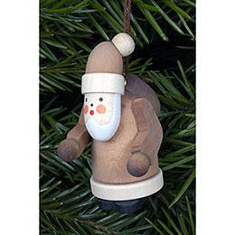Christbaumschmuck Weihnachtsmann natur - 2,5x5,0 cm