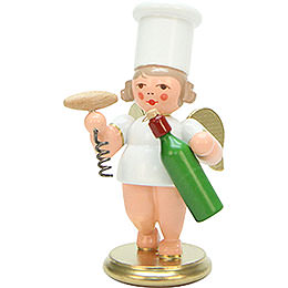 Cooking Angel with Wine Bottle - 7,5 cm / 3 inch
