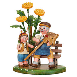 Country Idyll Grandpa and I - 10 cm / 3.9 inch