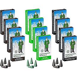 Crottendorfer Räucherkerzen - Mega-Pack - 3x4 Packungen der beliebtesten Crottendorfer Düfte