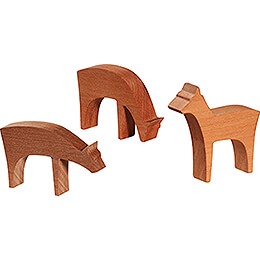 Deer - 3 pieces - 4 cm / 1.6 inch