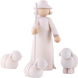 Dekofiguren Schäfer mit Schafen - 11 cm