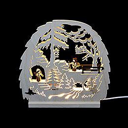 Dekoleuchter Waldmotiv - 30x28,5x4,5 cm