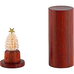 Der Weihnachtsbaum für die Hosentasche - Padouk - 4,5 cm