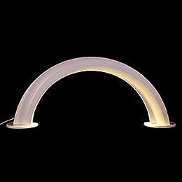 Design Wooden Arch White - 55x22,5 cm / 21.6x8.9 inch