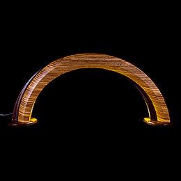 Design Wooden Arch Zebrano/Wenge - 55x22,5 cm / 21.6x8.9 inch