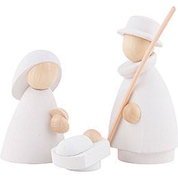 Die heilige Familie weiß/natur - klein - 7 cm
